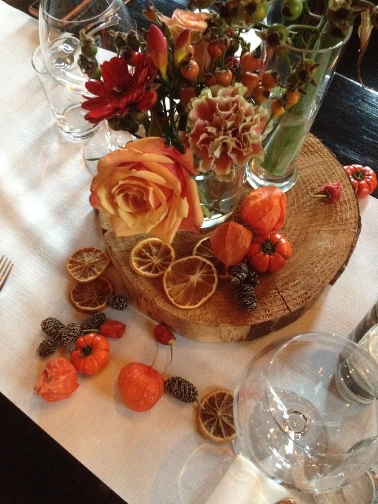 Autumn wedding styling