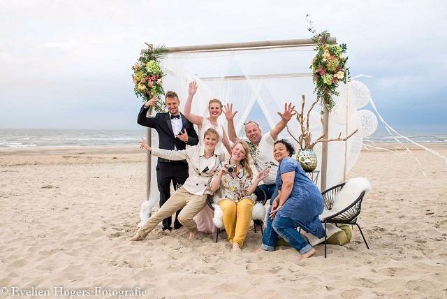 Bruiloftstyling strand