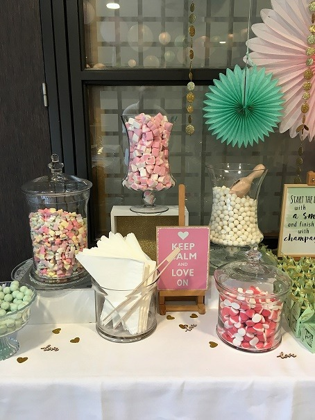 Candy table Bruiloftstyling