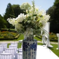 Bloemen decoratie bruiloftstyling