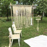 Bruiloft styling Prieel Backdrop