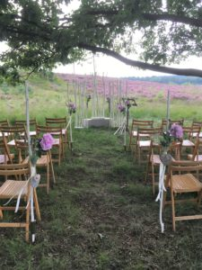 Bruiloft decoratie trouw stoelen