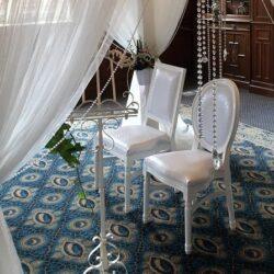 Bruiloft styling met verse bloemen