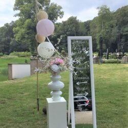 Welkomstbord bruiloft decoraties