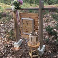 Welkomst bord bruiloft decoratie
