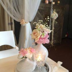 bruiloft styling decoratie, zijde bloemen