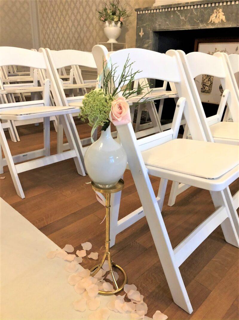 trouw stoel decoratie
