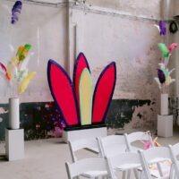 Bruiloft styling backdrop festival