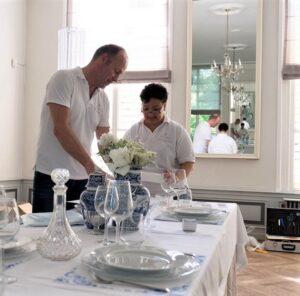 Bruiloft styling diner