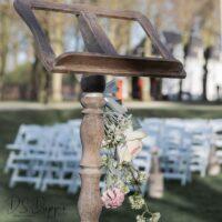 Bruiloft styling met decoratie