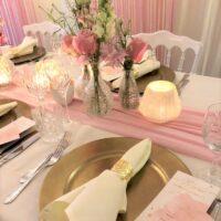 Bruiloft diner aankleding