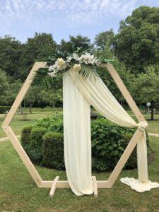 Hexagon backdrop Bruiloft decoratie